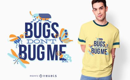 Diseño de camiseta Bugs Love Quote