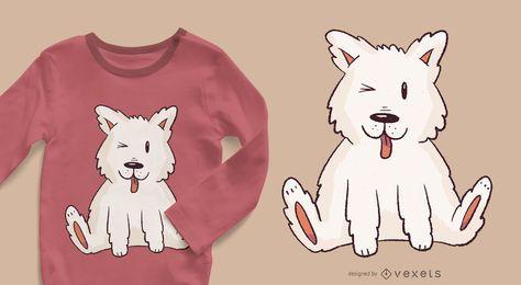 Design de t-shirt de filhote de cachorro esquimó
