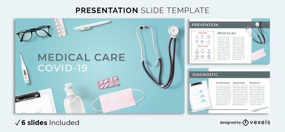 Medical Covid Präsentationsvorlage