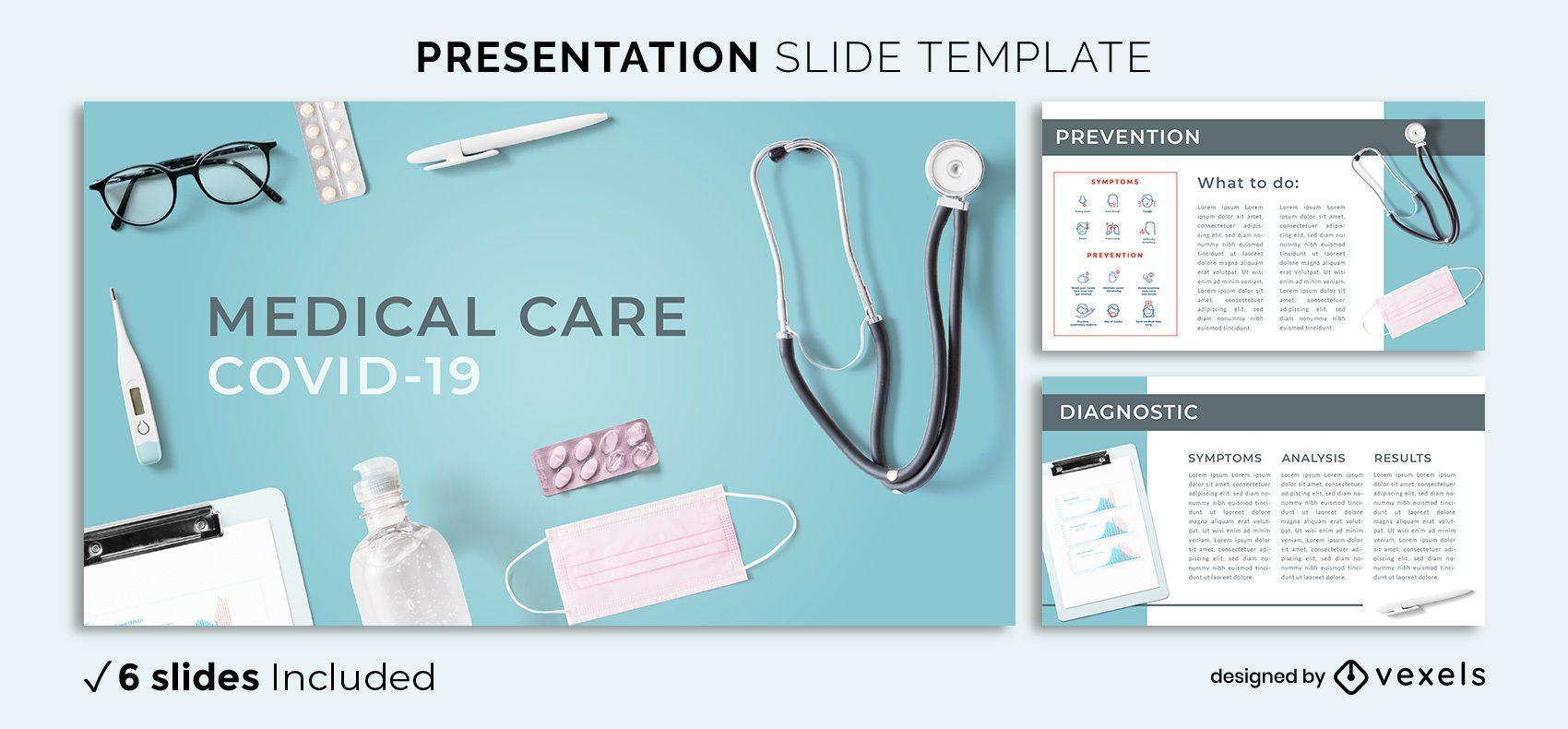 Modelo de apresentação médica da Covid