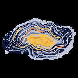 Ilustración de galaxia abstracta