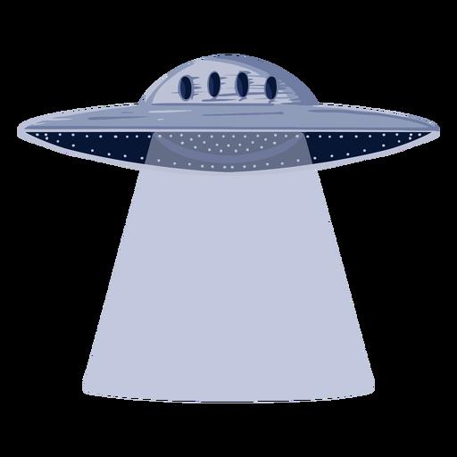Ilustración de ovni alienígena