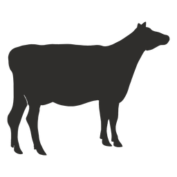 Animal cow silhouette