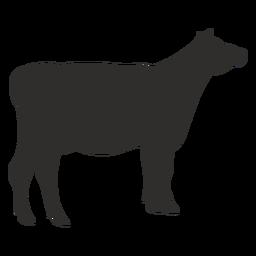 Silhueta de vaca animal