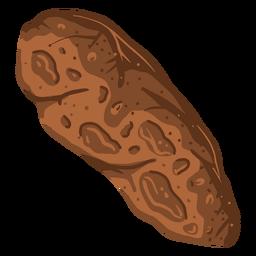 Asteroid rock orbit illustration