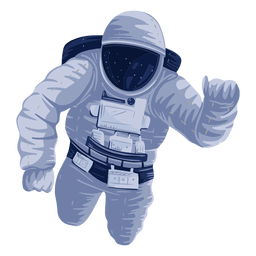 Astronaut space illustration