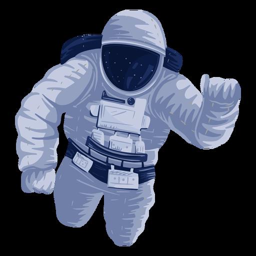 Ilustración del espacio astronauta