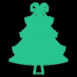 Árbol de navidad australiano plano