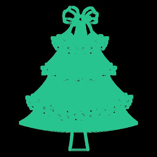 Plano de árbol de navidad australiano