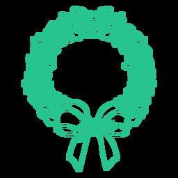 Australian christmas wreath flat