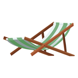 Beach chair illustration