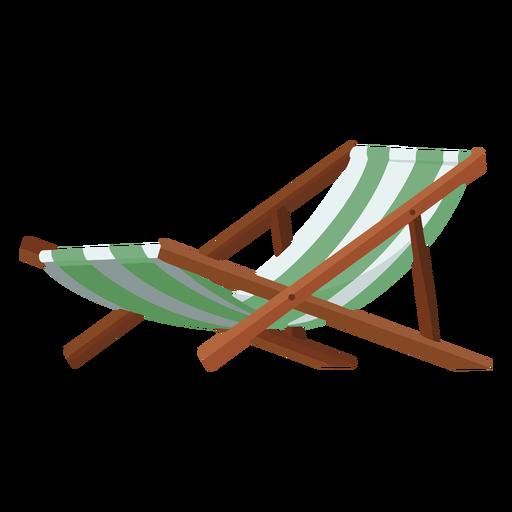 Ilustración de silla de playa