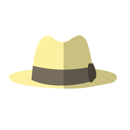 Beach woman hat illustration