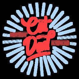 La mejor insignia de papá gato