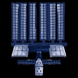Big artificial satellite illustration