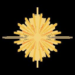 Grande estrela brilhante plana