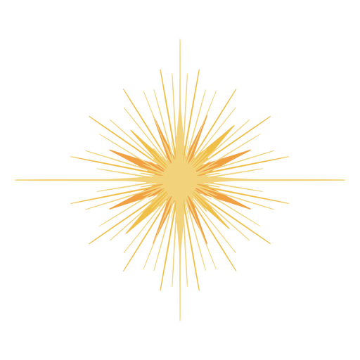 Big glowing star flat Transparent PNG