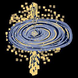 Ilustración de agujero negro