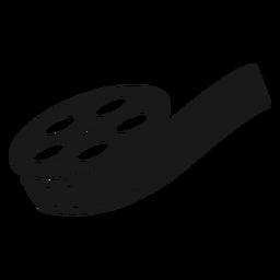 Carrete de película negra