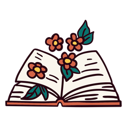 Book with flowers illustration