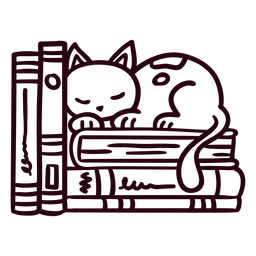 Estantería durmiendo gato golpe