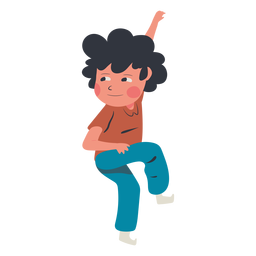 Niño personaje de pared de escalada