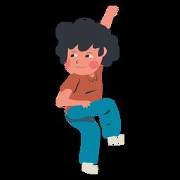 Personagem de parede de escalada de menino