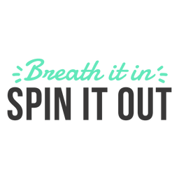 Breath it in spin badge