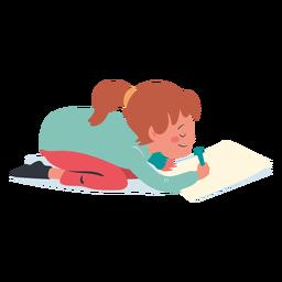 Ruhiges Mädchen das Charakter schreibt
