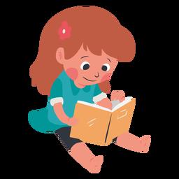 Personaje de libro de lectura de niño tranquilo