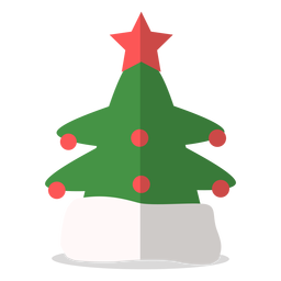 Christmas tree hat illustration