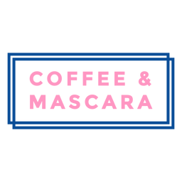 Coffee and mascara badge