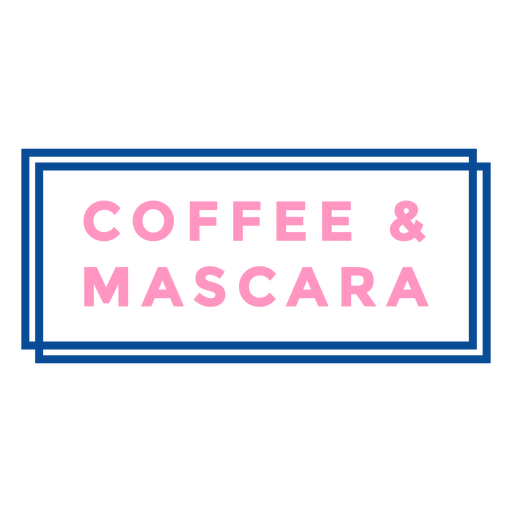 Coffee and mascara badge Transparent PNG