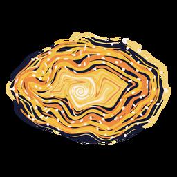 Ilustração colorida da galáxia