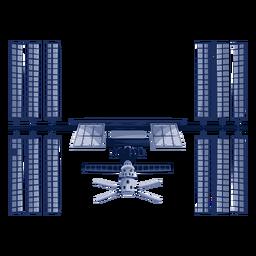 Complex artificial satellite illustration