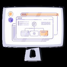 Ilustração de arquivos de tela de computador