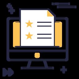 Icono de trazo de archivos de pantalla de computadora