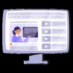 Ilustração de vídeo de tela de computador