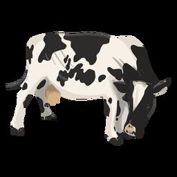 Vaca, olhando para baixo, ilustração