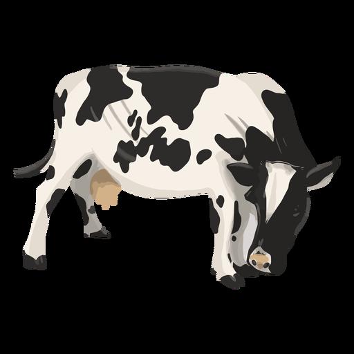 Ilustración de vaca mirando hacia abajo