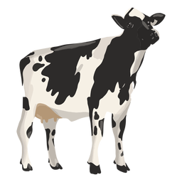 Cow looking up illustration