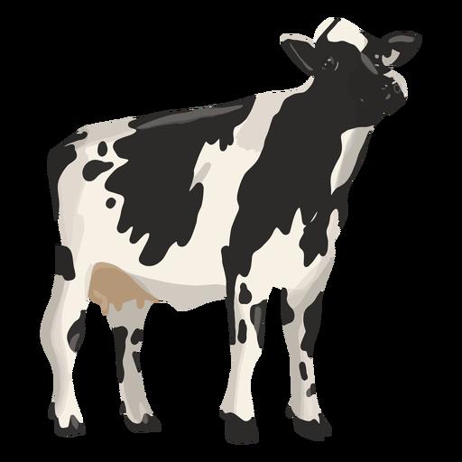 Vaca mirando hacia arriba ilustración