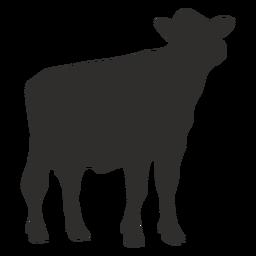 Vaca mirando silueta