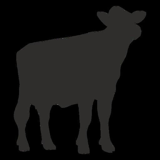 Vaca mirando silueta Transparent PNG