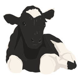 Cow lying down illustration