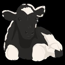 Vaca deitada ilustração