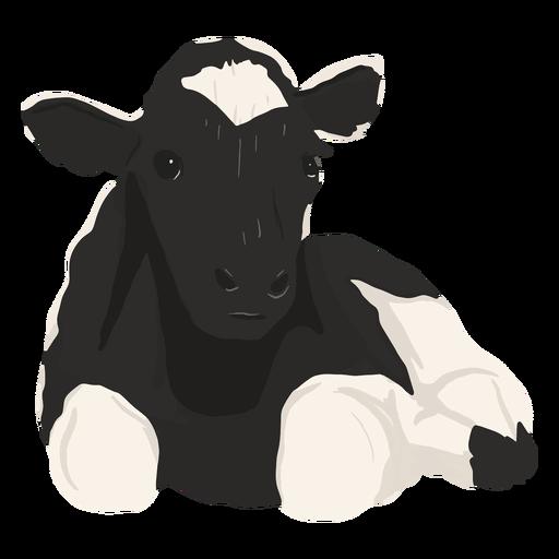 Ilustración de vaca acostada