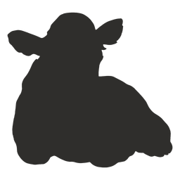 Cow lying down silhouette