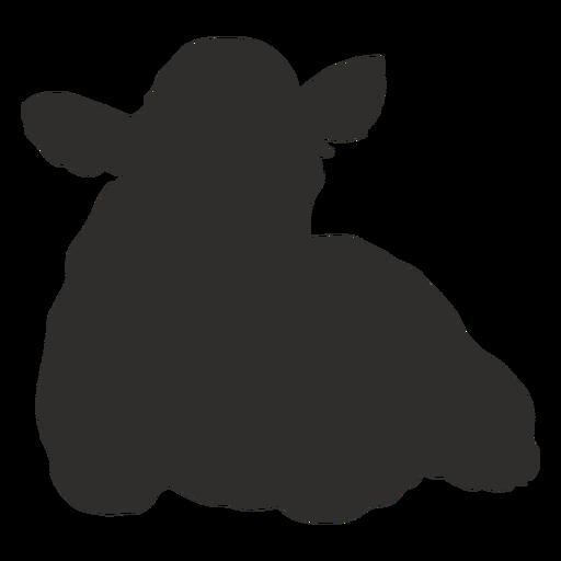Vaca acostada silueta