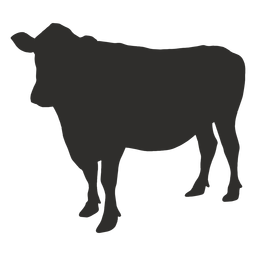 Cow side silhouette